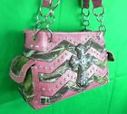 Western Mossy Oak Camo Purse Rhinestones Cross Chevron Real Tree Print Handbag P