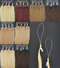 """Straight Micro Bead Loop Ring Remy Human Hair Extensions 20"""" 8 Color 100 Strands"""