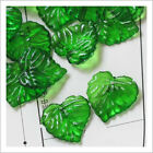 Acrylic Leaf Beads, 14x15mm