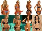 TRIANGLE TOP BRAZILIAN MICRO SCRUNCH BUTT BIKINI  UK SELLER 6 8 10 UN PADDED