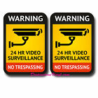 2 x Static Cling Inside Window CCTV Office Warning Security Camera Notice #0175