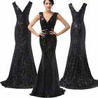 Shiny SEXY Sequins Prom Bridal Gown Mermaid Formal Long Evening Dress Homecoming