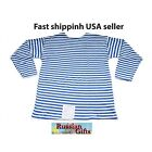 RUSSIAN ARMY AIRBORNE FORCES STRIPED T'SHIRT TELNYASHKA SPETZNAZ Winter US SELLE