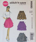 McCALL'S SEWING PATTERN M6680 MISSES' PULL ON LOOSE FITTING SKIRT SIZE 6-22