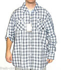 AKADEMIKS Button Up New $56 Tyler Navy Blue Plaid Shirt Choose Size Big & Tall