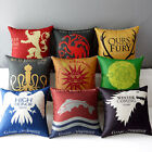 Game of Thrones House Sigils Home Car Decoration Flat Pillow Case Cushion Cover
