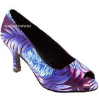 TPS Purple & Blue Latin Ballroom Salsa Custom-made Dance Shoes D569
