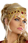 Egyptian Queen Goddess Renaissance Dripping Rubies Headpiece Costume Accessory