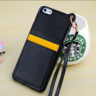 TPU Card Soft Cover Protect Side Case For Apple iPhone 6 / 6 Plus + Wrist Strap