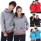 4 Colors Rainbow Lovers Couples Hoodie Sweater Coat Thick warm Men Women DW5041