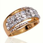 Women 18K Gold Plated Clear Austrian Crystal US Size Ring Jewelry In 3 Size