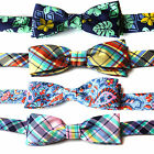 Boys Kids Childrens Velcro Pre Tied Pattern Bowties Bow Ties Checked Paisley