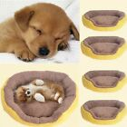 Cute Candy Color Puppy Dog Cat Pet Nest Bed Fleece Cozy Warm Plush Mat Pad S/M/L