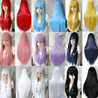 """Party Evening 31""""/80 Heat Resistant Bang Long Straight Cosplay Anime Full Wig FO"""