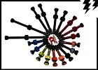 MT ZOOM Ultralight Tubeless Presta Valves Pair RED or BLACK +FREE core remover