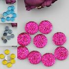 DIY 50pcs 12mm Facets Round Resin Beads Fit Scrapbooking Embelishments Flatbacks