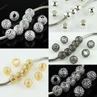 Wholesale Mesh Net Ball Big Hole Charm Spacer Loose Beads Fit European Bracelet