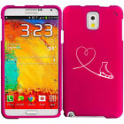 For Samsung Galaxy Note 2 3 4 Rubber Hard Case Cover Heart Love Ice Skating