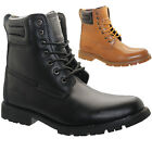 MENS LEATHER WALKING HIKING TRAIL WORK ANKLE MILITARY WINTER COMBAT BOOTS SHOES