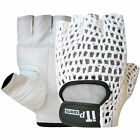 Weight Lifting Gloves Body Building Gym Exercise Fitness Gloves MESH White