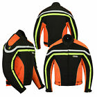Mens Armoured Waterproof Textile Motorbike Motorcycle Short Jacket Winter Sports