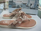 Sperry Top Siders Saybrook Brown Python Sandals Sz 6 -NIB-