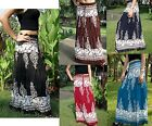 Long Skirt-Gypsy - Maxi -Boho-Summer-Lightweight-Batik-Various Colours
