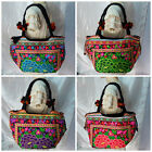 Thai Hmong Tribal Ethnic Hill Tribe Vintage Rose Embroidered Bag Handbag