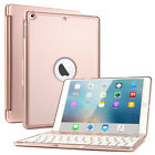 iPad Air 1/2 LED 7 Colors Backlits Bluetooth Keyboard Folios Case Back Cover