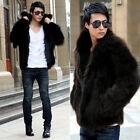 Special Soft Man Lapel Faux Fox Fur Fluffy Warm Waist Coat Popular Jacket