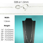 925 Sterling Silver Box Chain Necklace All Sizes Stamped  925 Italy