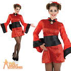 Adult Sexy Geisha Girl Costume Ladies Japanese Fancy Dress Oriental Outfit New