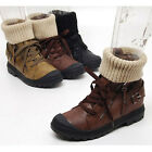 2sbd0897 winter fur synthetic leather ankle knit boots Made in korea