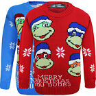 Kids Unisex Boys & Girls Christmas Ninja Turtle Novelty Knitted Jumper Sweater