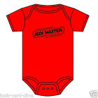 STAR WARS BABYGROW PERSONALISED JEDI MASTER IN TRAINING  0-12 M ASST COLOURS