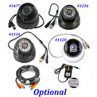 DIY - IR Night Vision CCTV Security Dome Camera,BNC Cable,12V 1A UK Power Supply