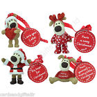 Boofle Pup Christmas Decoration Ornament Tree Santa Love Heart Onesie Reindeer