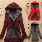 special offer women's winter coat hooded pullover fleece outwear warm overcoat