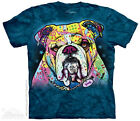 Colorful Bulldog T-Shirt from The Mountain - Sizes S through 5X