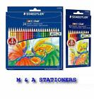 STAEDTLER NORIS CLUB COLOURED PENCILS SET OF 24s / 12s / 12 minis