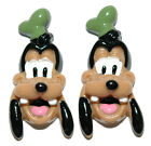 ADORABLE GOOFY RESIN STUD or CLIP ON EARRINGS (S031)