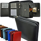 2 Pcs = 1 Price / Wallet with wrap-around Zip Secret compartment Cattle leather