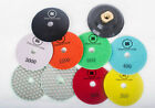 "100mm 4"" Premium DRY Diamond polishing pads Granite Marble Individual Grits"