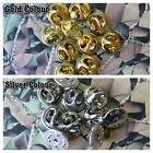 Replacement Butterfly Clasps / Fasteners For Lapels Silver Or Gold Colour