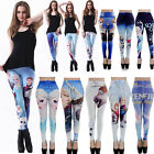 Women Frozen Queen Elsa Anna Digital Print Leggings Kids / Adult anime Pants Hot