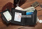 RFID Blocking Men's Bifold Wallet Purse Card Cash Receipt Holder Organizer PU