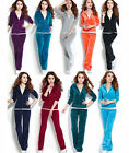 Womens Velour Hoodie+Pant Tracksuit Sport Yoga Running Sweat Suit Warm Grils New