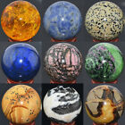 50mm Mix Natural Gemstone Crystal Sphere Wholesale Lot