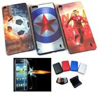 Mobile Phone Back Cover Case + Tempered Glass + Aluma Credit Card Wallet FREE