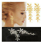 Ladies love cute earrings earrings diamond snowflake pendant long section FO-UK!